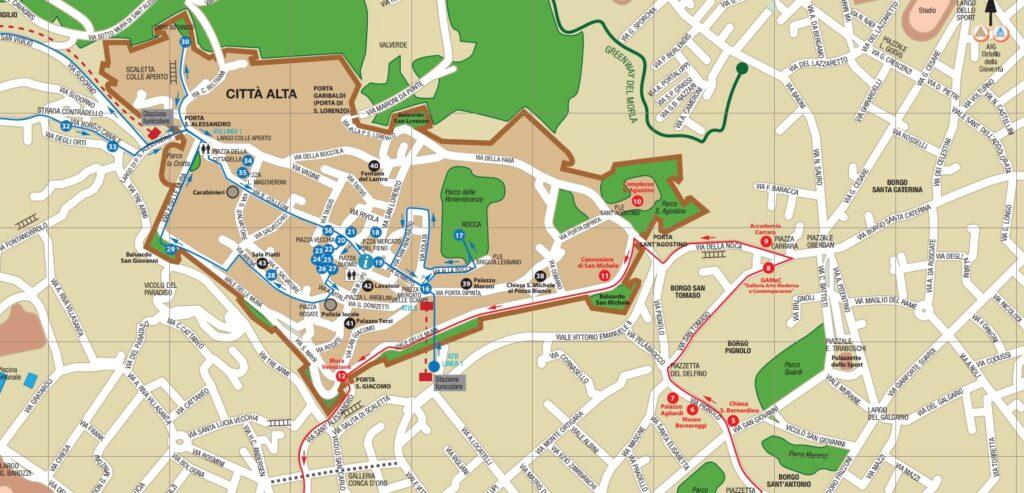 Turystyczna mapa Bergamo - do pobrania i wydrukowania