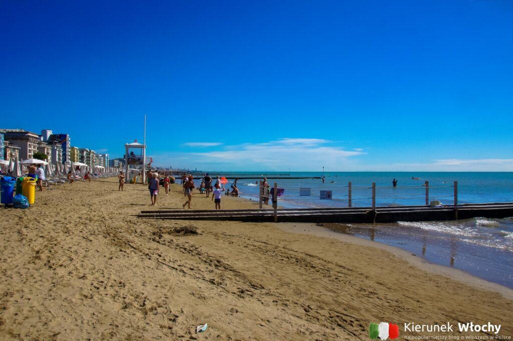 plaża w Lido di Jesolo, Włochy (fot. Łukasz Ropczyński, kierunekwlochy.pl)