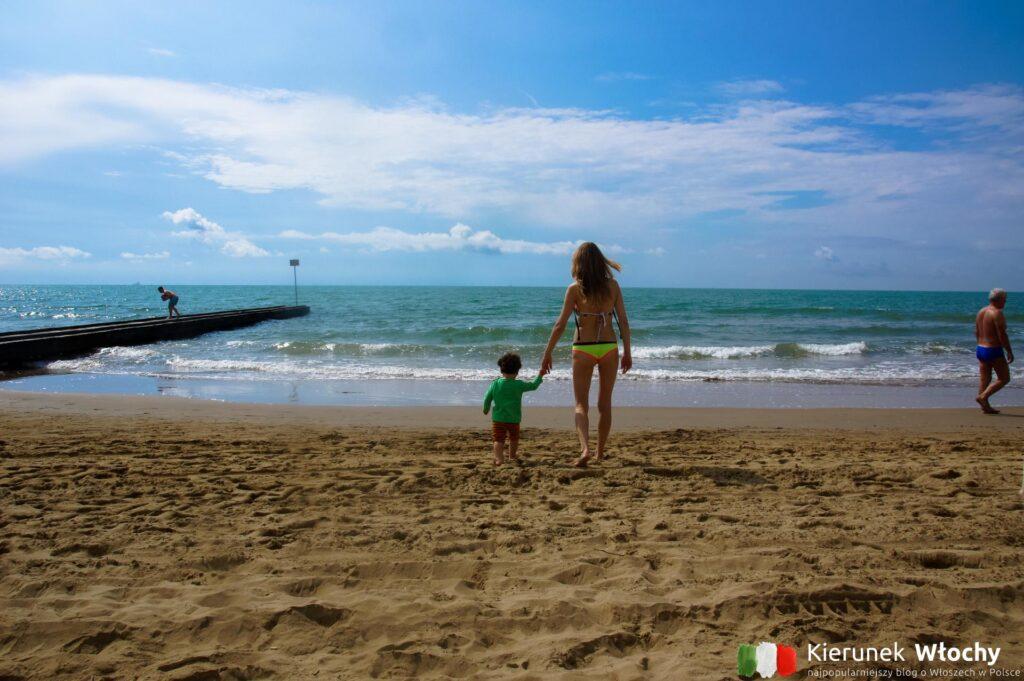 plaża w Lido di Jesolo, Veneto, Włochy (fot. Łukasz Ropczyński, kierunekwlochy.pl)