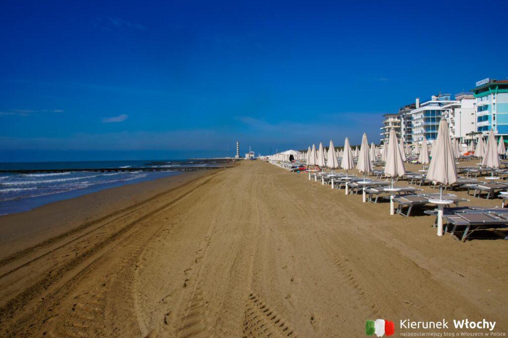 miejska plaża w Lido di Jesolo (fot. Łukasz Ropczyński, kierunekwlochy.pl)