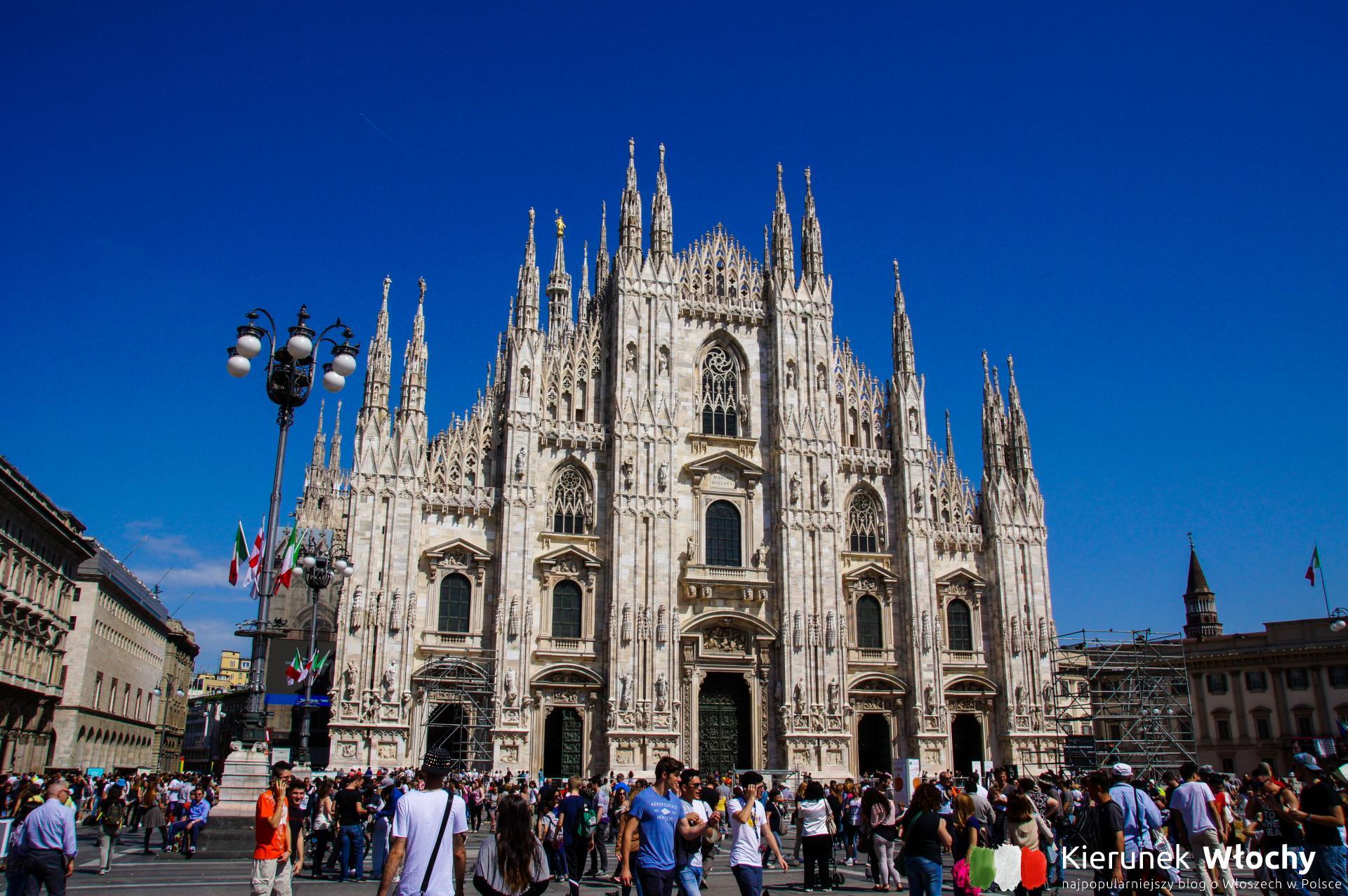 Piazza del Duomo, Mediolan, Lombardia, Włochy (fot. Łukasz Ropczyński, kierunekwlochy.pl)