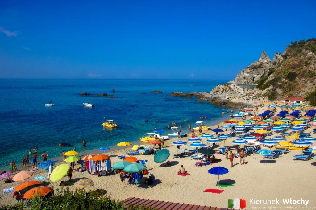 Plaża Spiaggia di Grotticelle, Capo Vaticano, Włochy (fot. Łukasz Ropczyński, kierunekwlochy.pl)