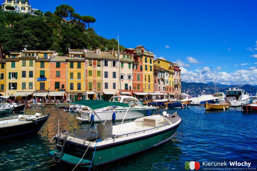 niewielki port, a w tle kolorowe kamienice z których słynie Liguria (fot. Łukasz Ropczyński, kierunekwlochy.pl)
