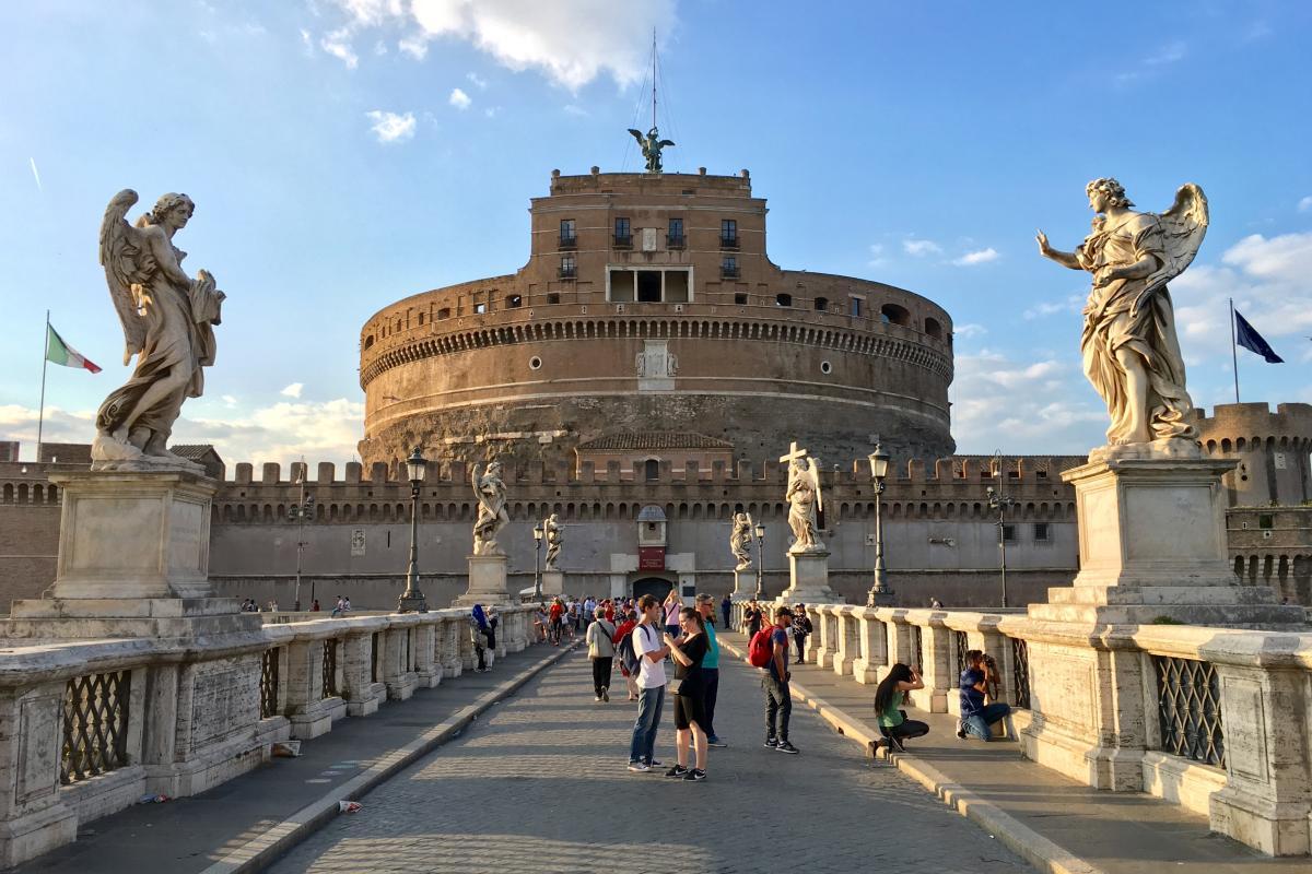 Zamek świętego Anioła - Castel Sant?Angelo, Rzym, Włochy (fot. d1mka vetrov)