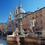 Piazza Navona i fontannę Neptuna, Rzym, Włochy (fot. Ana Rey)