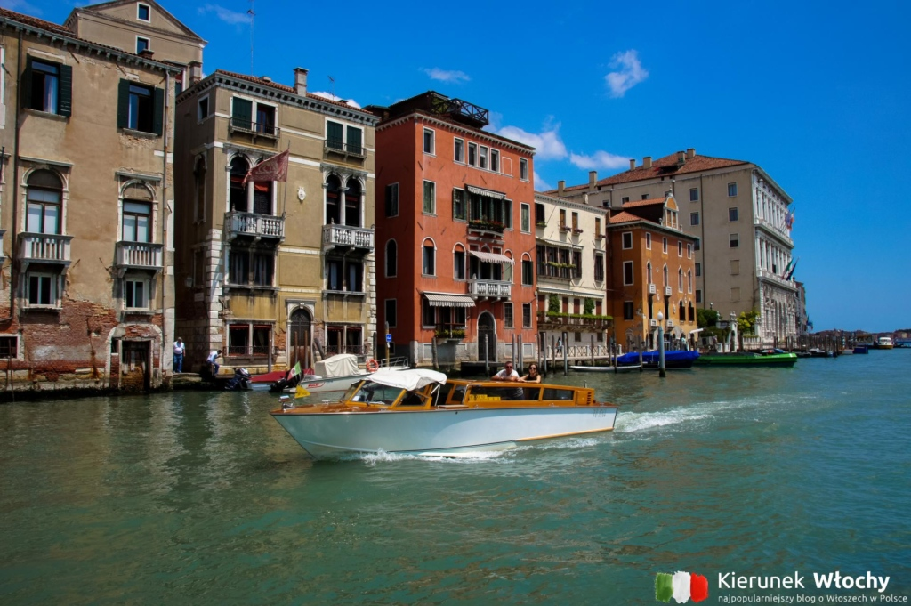 taksówka wodna w Wenecji, Włochy (fot. Łukasz Ropczyński, kierunekwlochy.pl)
