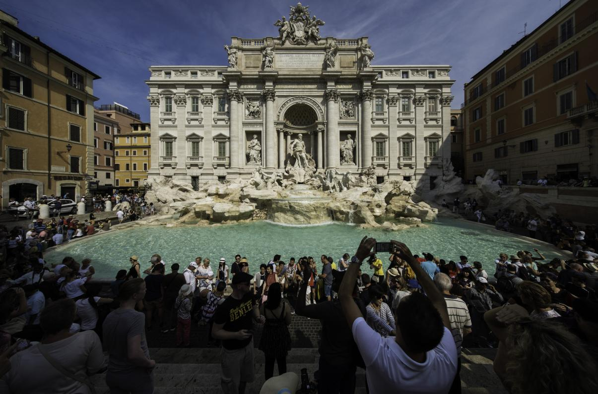 Fontanna di Trevi, Rzym, Włochy (fot. Gordon)