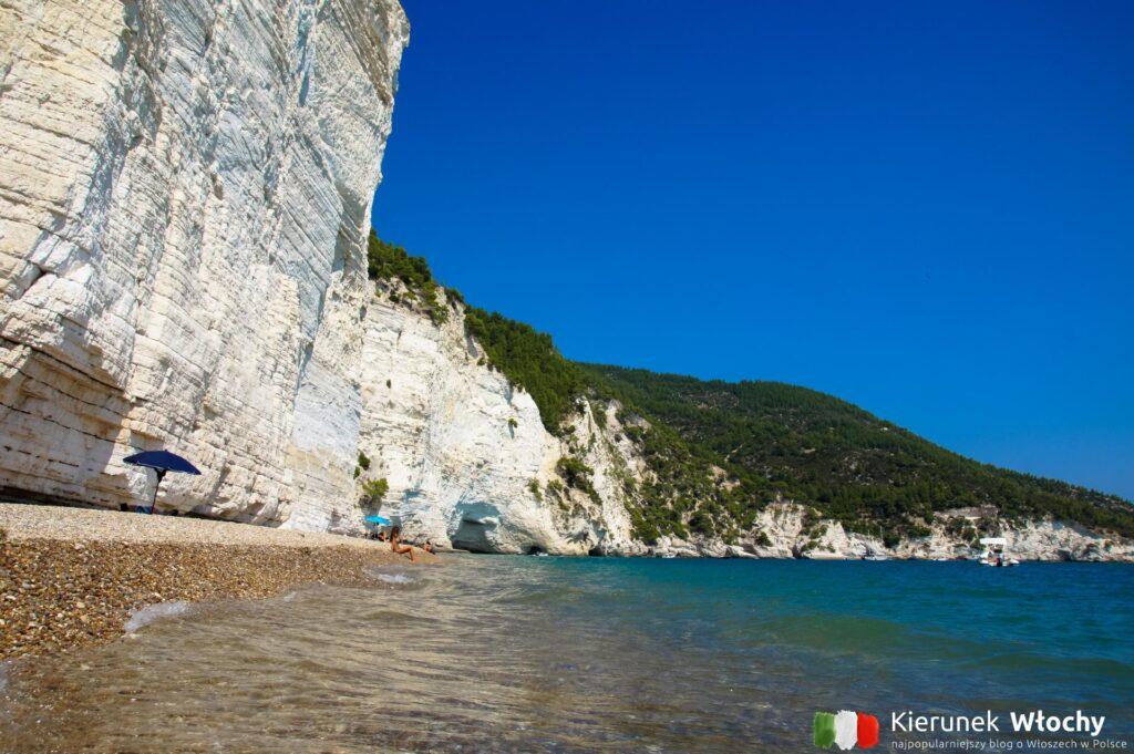 plaża Vignanotica, Gargano, Włochy (fot. Łukasz Ropczyński, kierunekwlochy.pl)