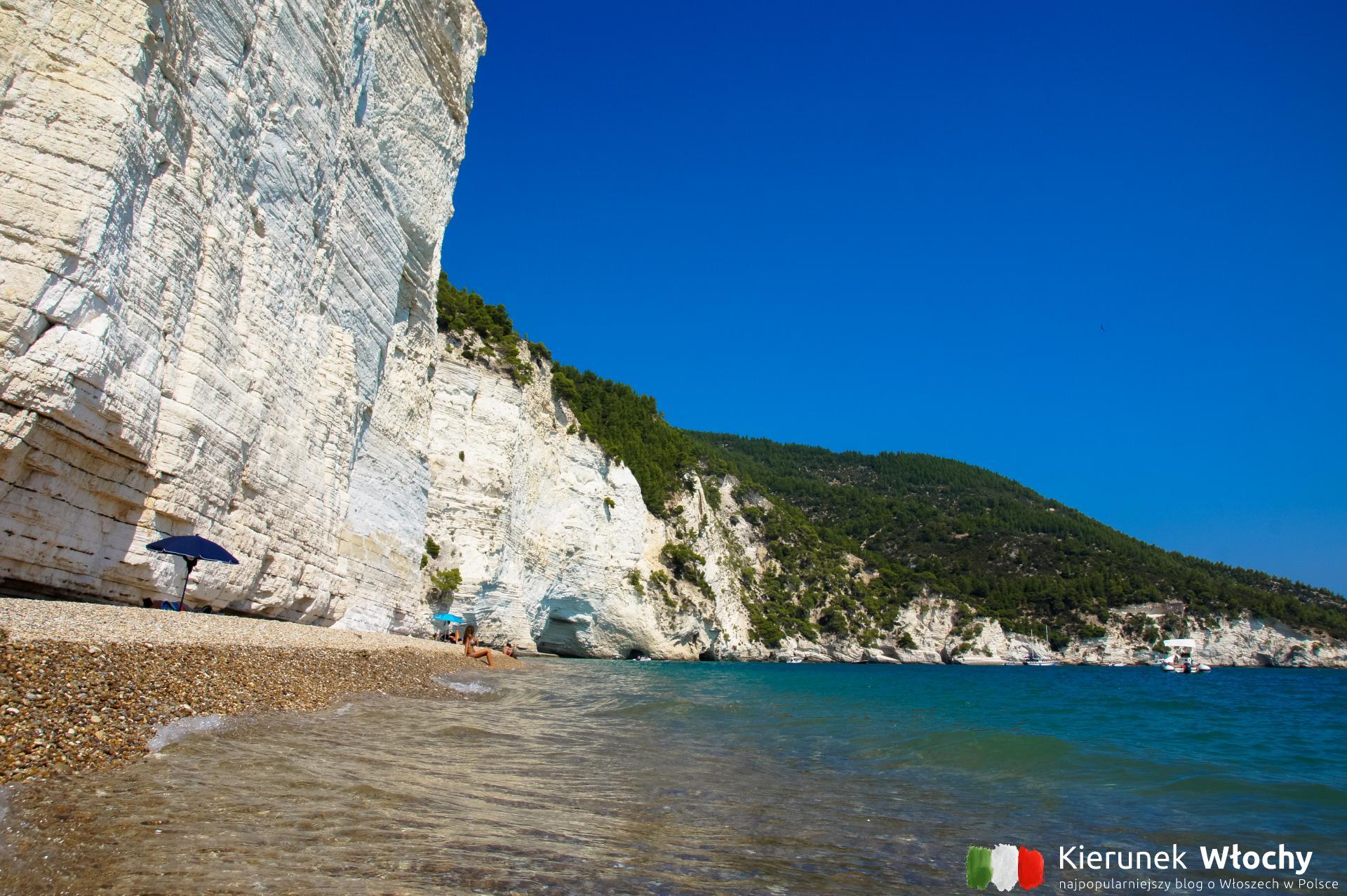 plaża Scialmarino, Gargano, Włochy (fot. Ł. Ropczyński, kierunekwlochy.pl)
