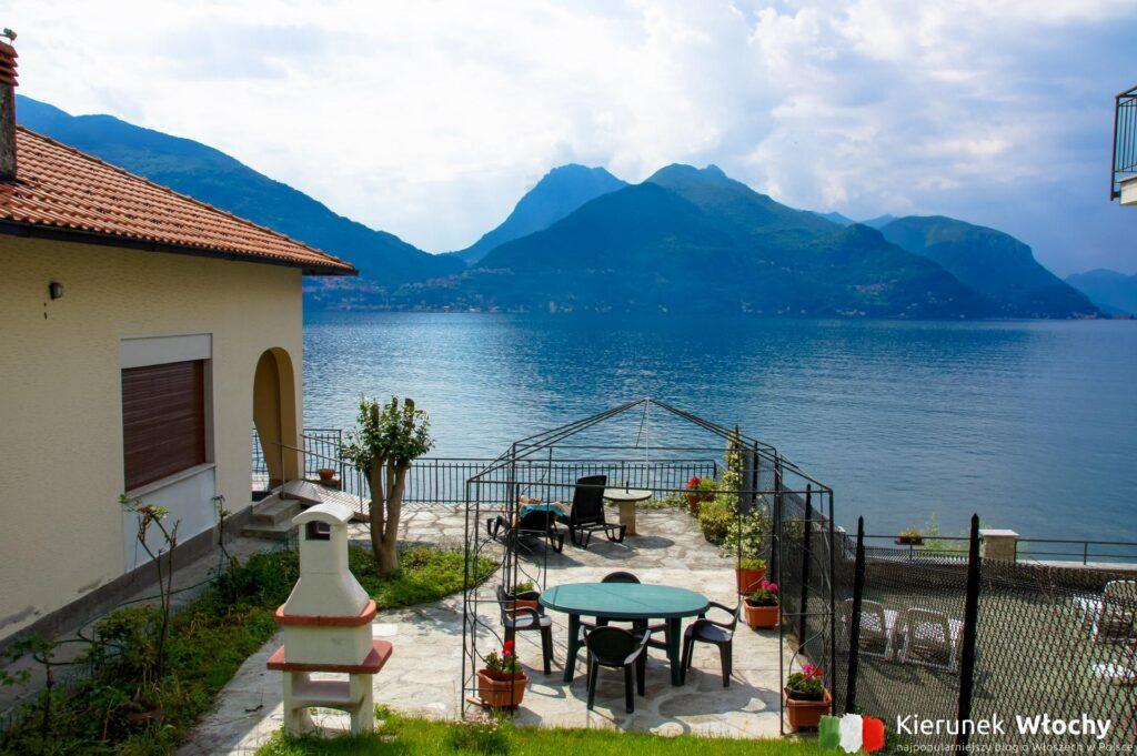 nasz ogród w apartamencie Interhome, jezioro Como, Włochy (fot. Łukasz Ropczyński, kierunekwlochy.pl)