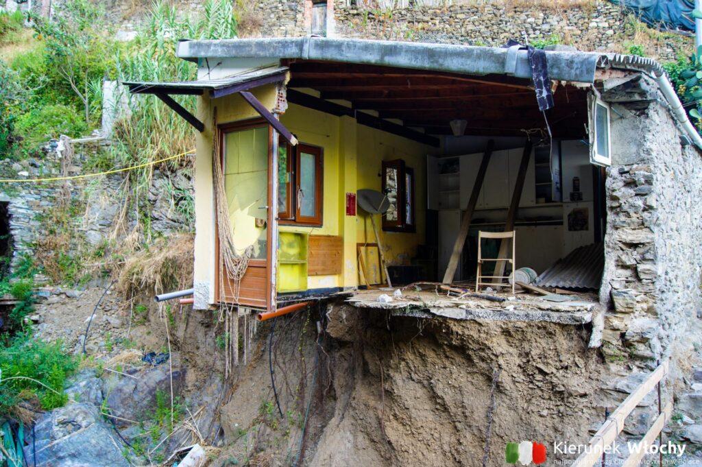 pozostałości po lawinie błotnej z 25 października 2011 roku, która przeszła przez Vernazzę (fot. Łukasz Ropczyński, kierunekwlochy.pl)