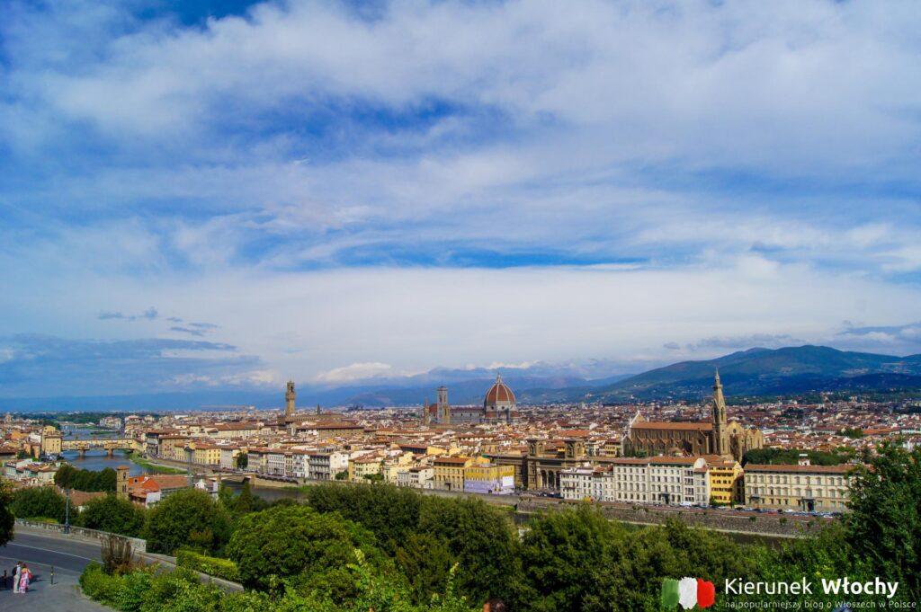 widok z Piazzale Michelangelo, Florencja, Włochy (fot. Łukasz Ropczyński, kierunekwlochy.pl)