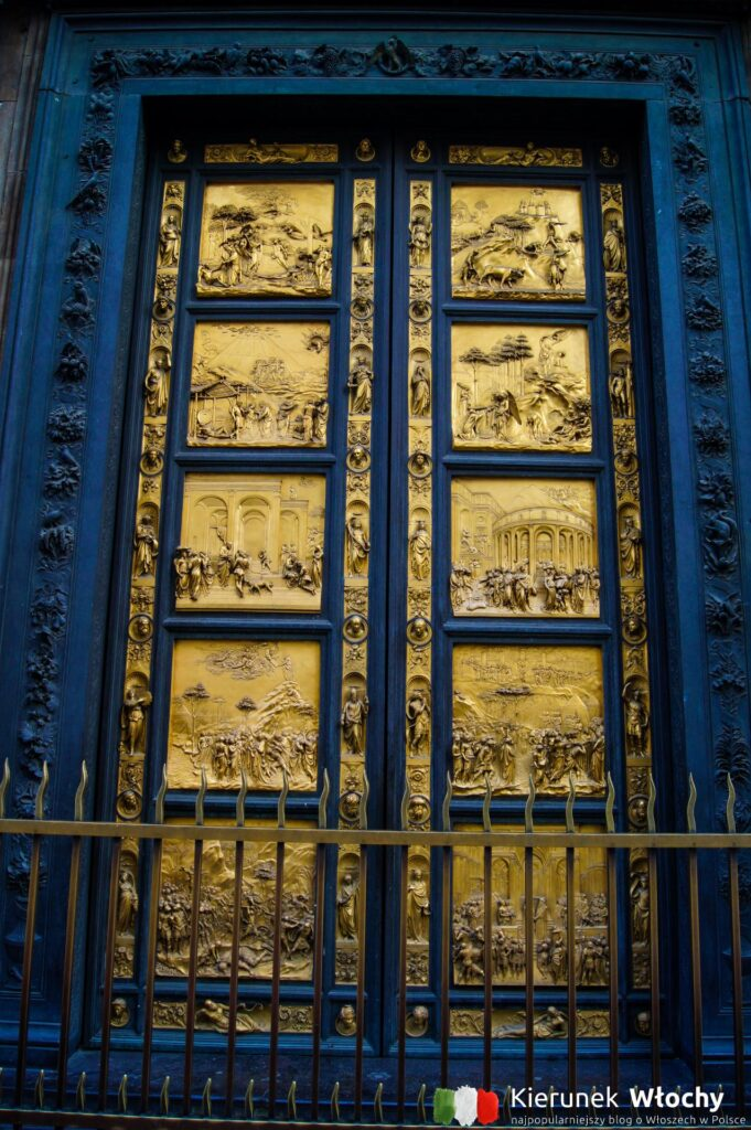 zabytkowe drzwi do Baptysterium we Florencji (fot. Łukasz Ropczyński, kierunekwlochy.pl)