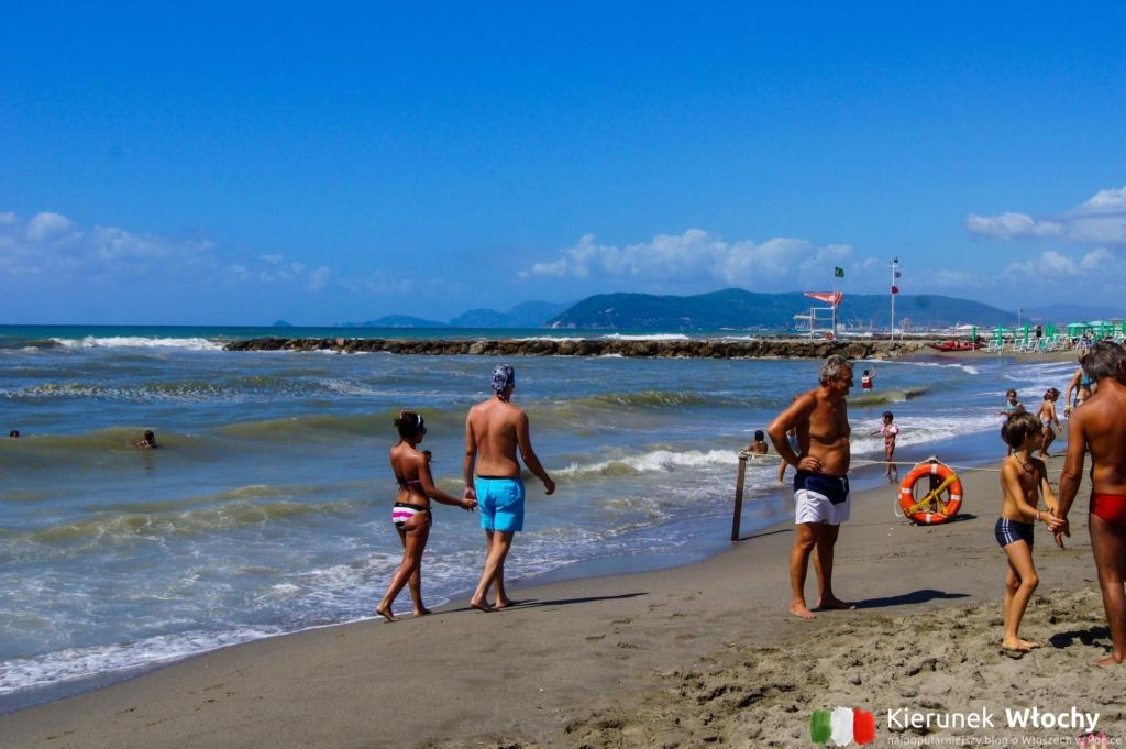 darmowa plaża w Marina di Massa (fot. Łukasz Ropczyński, kierunekwlochy.pl)