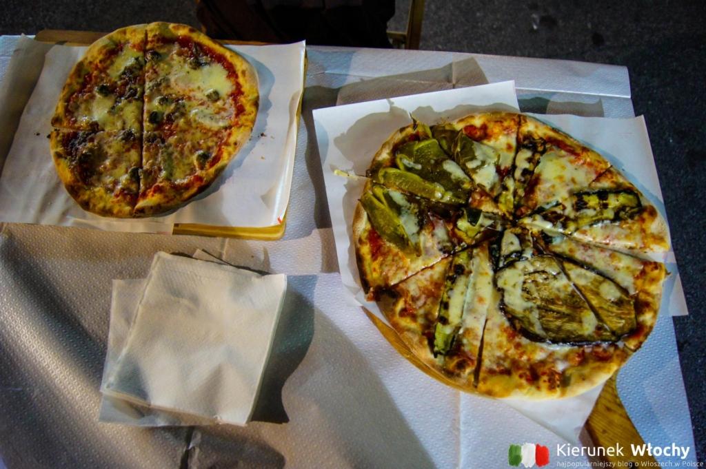 pizza w Rosticceria Pizzeria da Silvio, Marina di Massa, Włochy (fot. Łukasz Ropczyński, kierunekwlochy.pl)