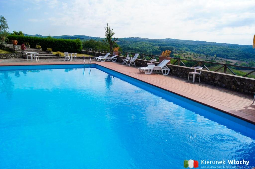 basen przy hotelu La Loggia Villa Gloria w regionie Chianti (fot. Łukasz Ropczyński, kierunekwlochy.pl)