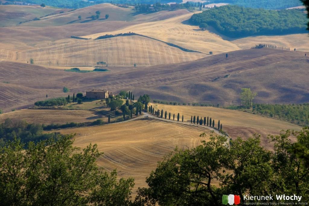 widok na dolinę Val d'Orcia z Pienzy, Włochy (fot. Łukasz Ropczyński, kierunekwlochy.pl)