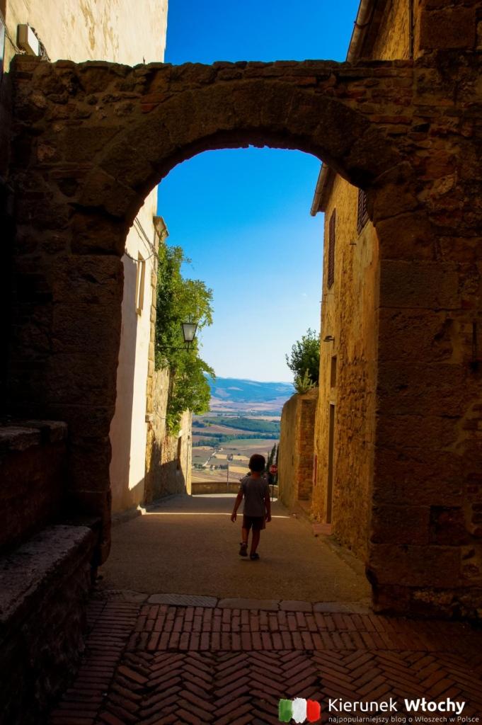 punkt widokowy na wzgórza Val d'Orcia, Pienza, Włochy (fot. Łukasz Ropczyński, kierunekwlochy.pl)