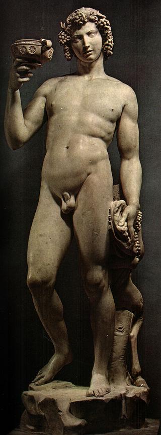 Michał Anioł, Bachus, 1496-1497, Museo del Bargello, Florencja