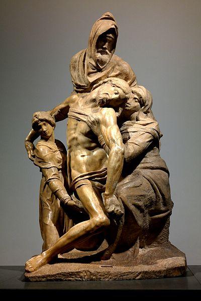 Michał Anioł Buonarroti, Pieta Bandini, 1547-1555, Muzeum Katedralne, Florencja. Fotografia: Luca Aless