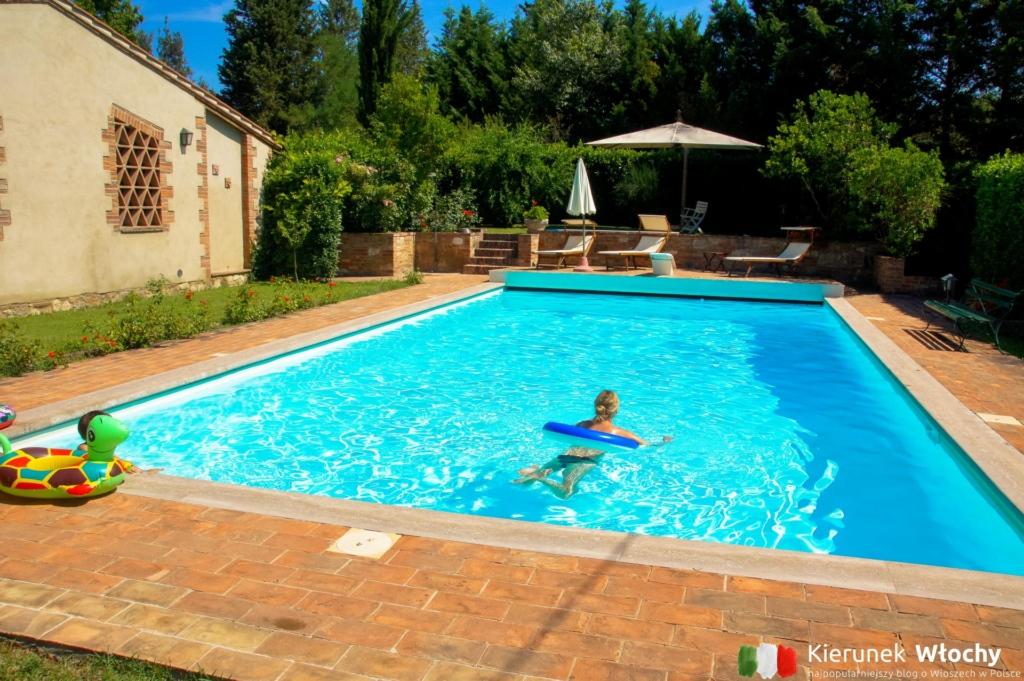 Nasz - niemal prywatny - basen w Asciano, Toskania (fot. Ł. Ropczyński, kierunekwlochy.pl)