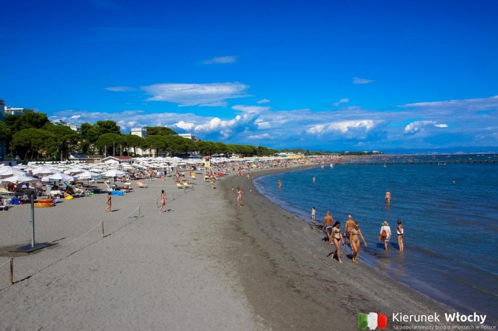 Spiaggia Principale - główna plaża w Grado, Włochy (fot. Łukasz Ropczyński, kierunekwlochy.pl)