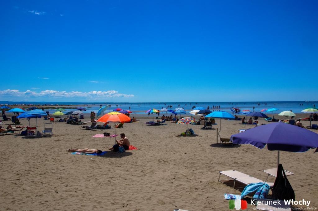 Darmowa plaża Lido di Fido w Grado, Włochy (fot. Łukasz Ropczyński, kierunekwlochy.pl)
