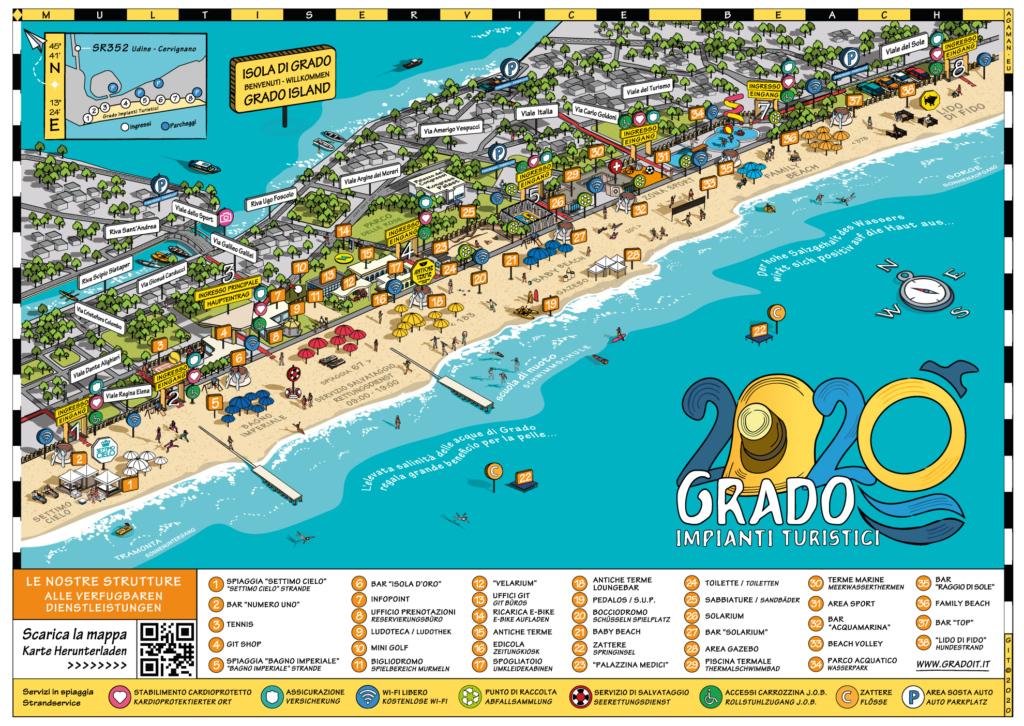 Spiaggia Principale - główna plaża w Grado, Włochy (źródło: GIT)