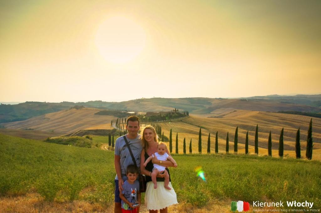 za nami jedna z najpiękniejszych alei w Toskanii, kilka kilometrów od Asciano (fot. Ł. Ropczyński, kierunekwlochy.pl)