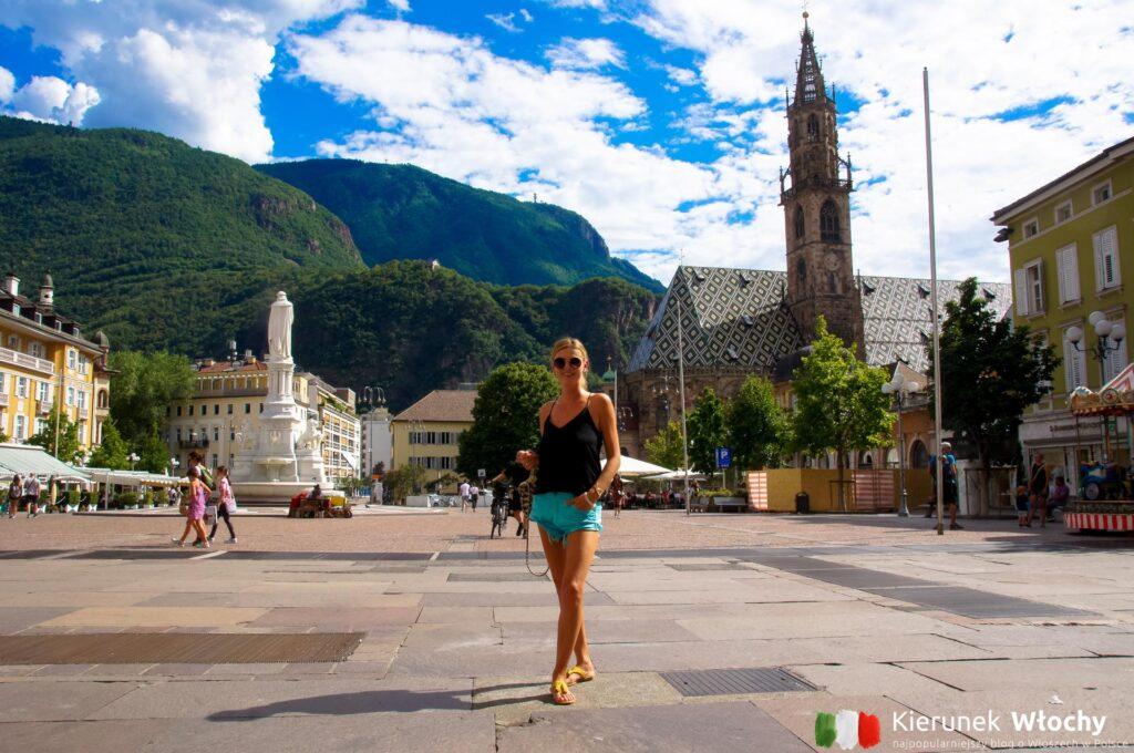 Piazza Walther, Bolzano, Południowy Tyrol, Włochy (fot. Ł. Ropczyński, kierunekwlochy.pl)