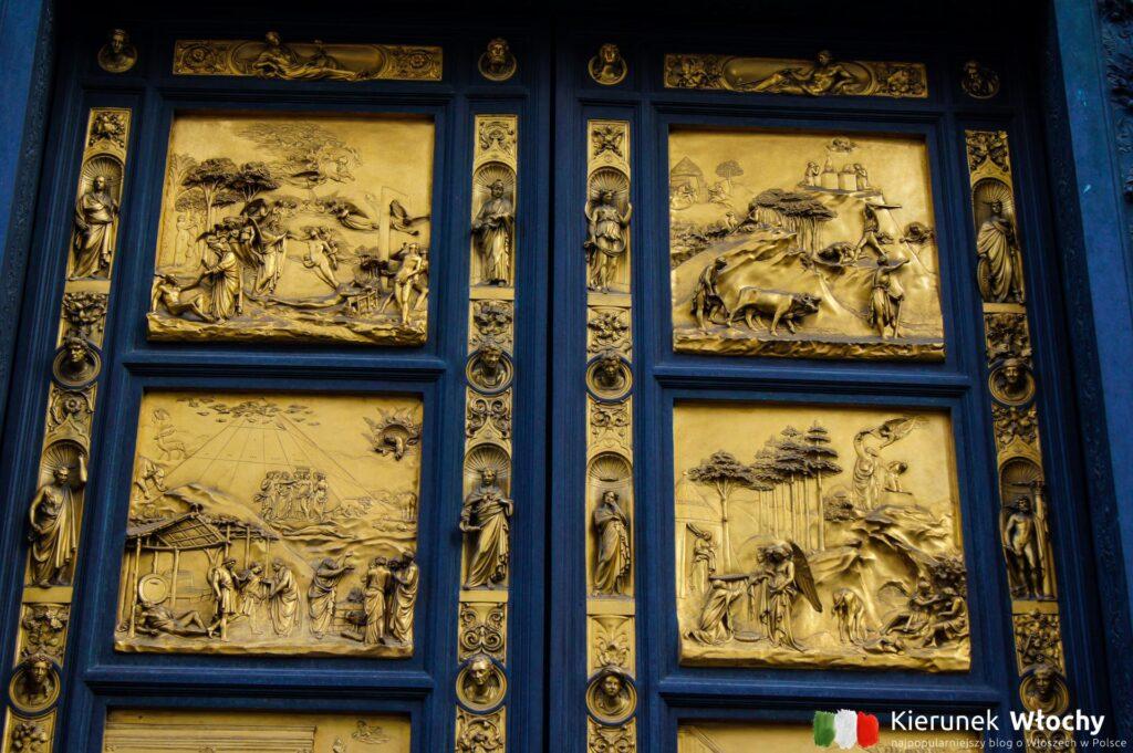zabytkowe drzwi do Baptysterium we Florencji (fot. Ł. Ropczyński, kierunekwlochy.pl)