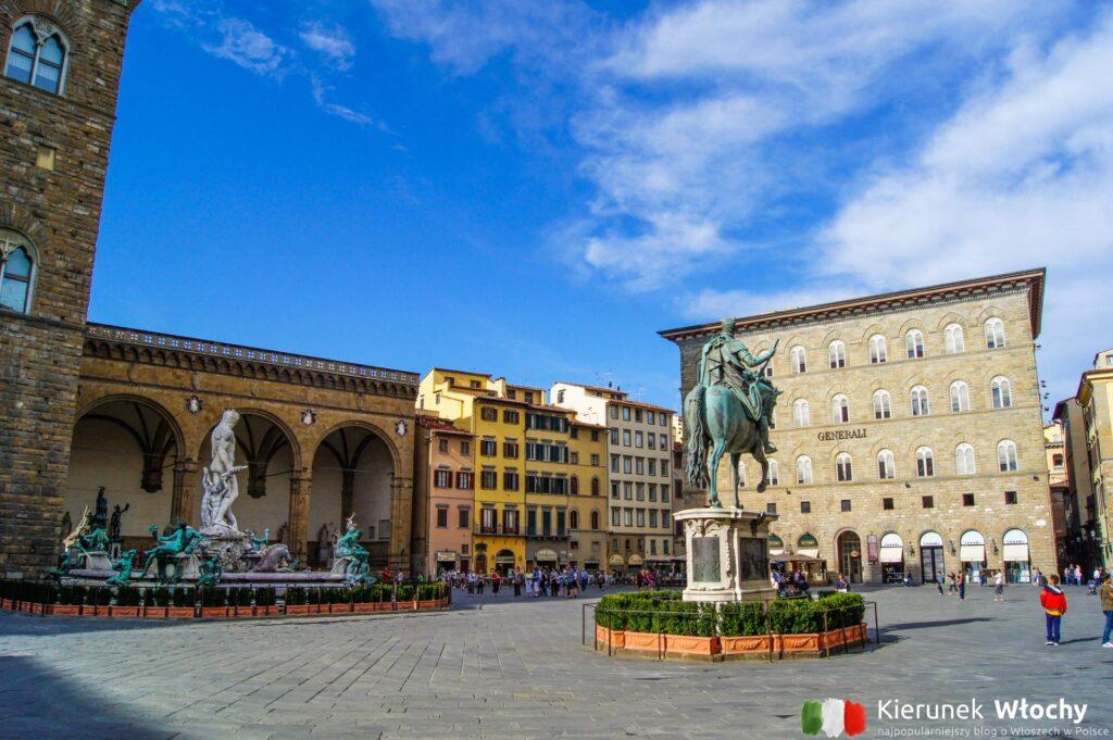 Piazza Della Signoria we Florencji (fot. Ł. Ropczyński, kierunekwlochy.pl)