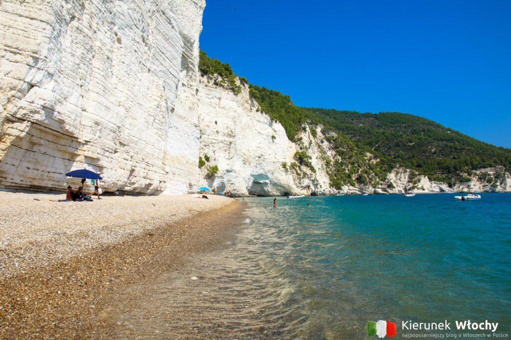 plaża Vignanotica, Gargano, Apulia, Włochy (fot. Ł. Ropczyński, kierunekwlochy.pl)