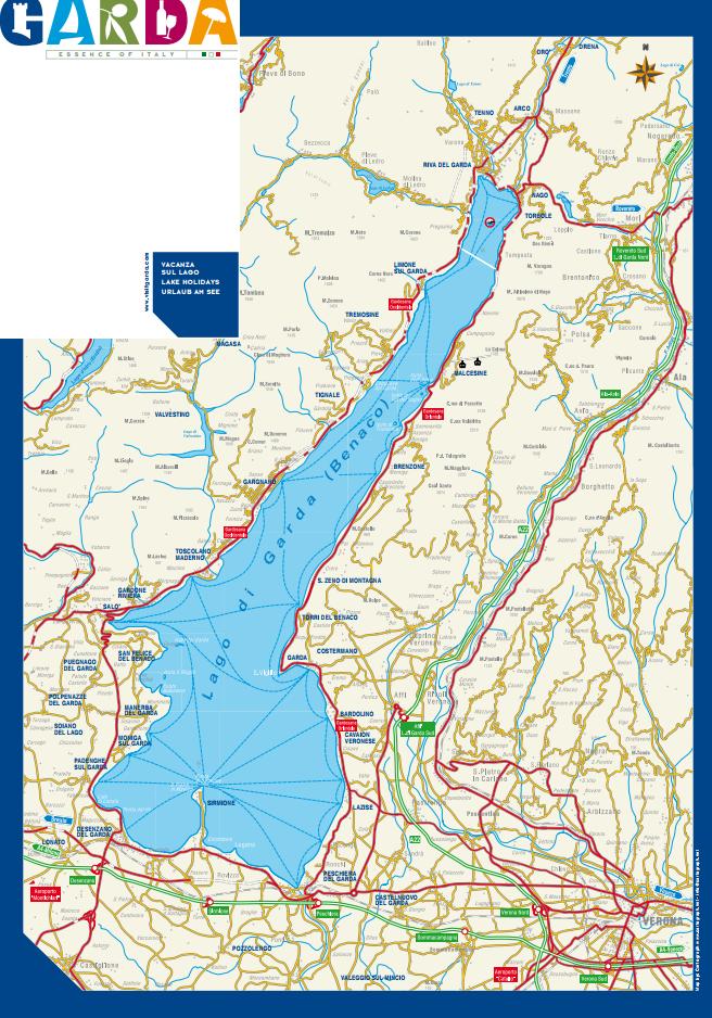 mapa jeziora Garda