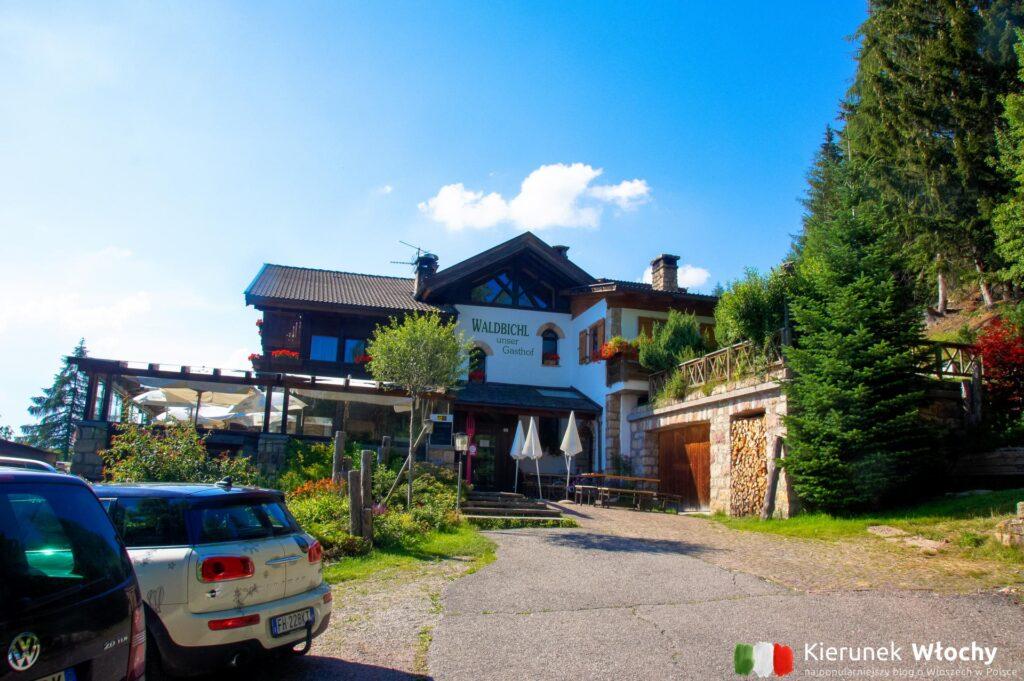 Gasthof Waldbichl w Verano w pobliżu Merano, Południowy Tyrol, Włochy (fot. Ł. Ropczyński, kierunekwlochy.pl)