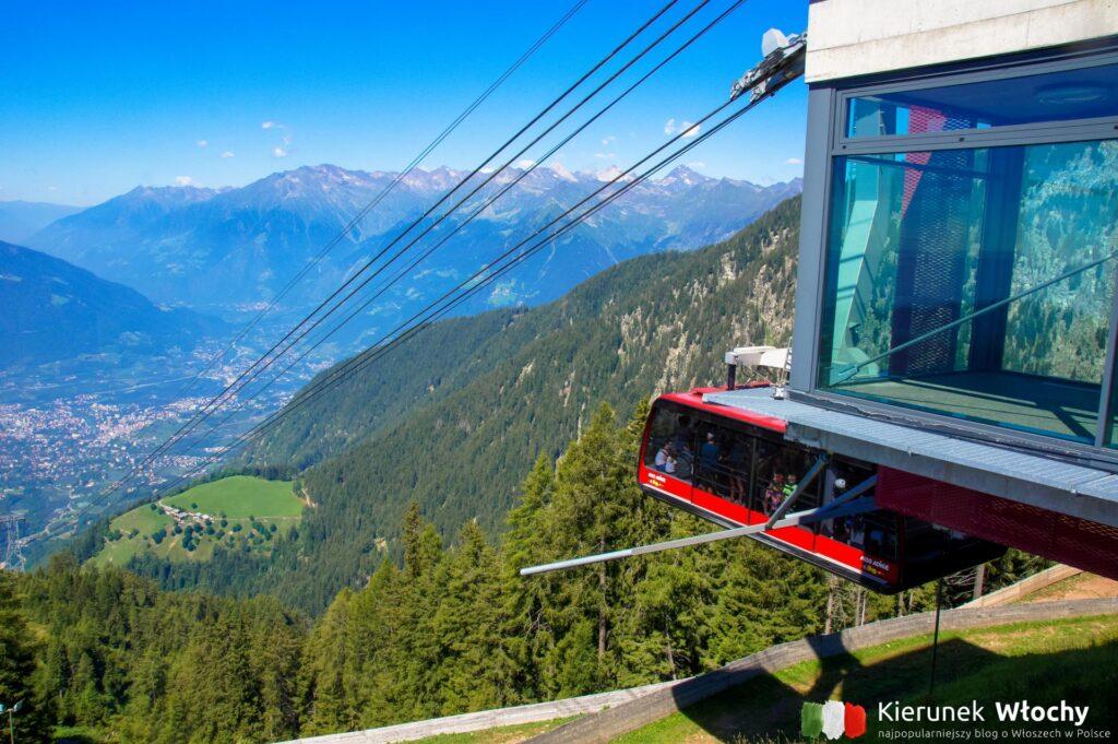 widok z górnej stacji kolejki Meran 2000, Południowy Tyrol, Włochy (fot. Ł. Ropczyński, kierunekwlochy.pl)