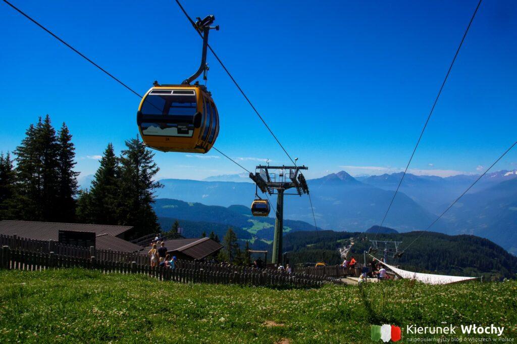 na szczyt można też wyjechać żółtą gondolą z Piffing (fot. Ł. Ropczyński, kierunekwlochy.pl)
