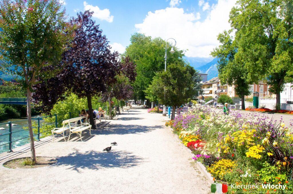 Passeggiata Lungo Passiro w Merano, Południowy Tyrol, Włochy (fot. Ł. Ropczyński, kierunekwlochy.pl)