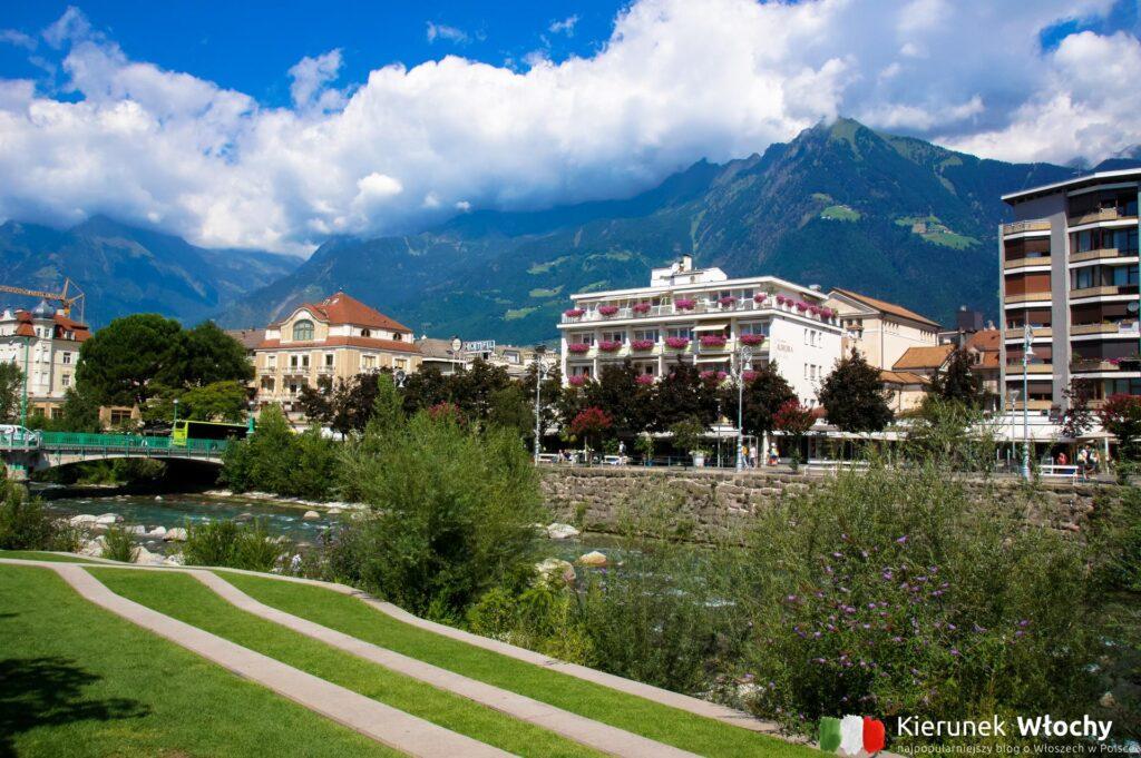 tarasy nad rzeką Passirio, Meran, Południowy Tyrol, Włochy (fot. J. Ropczyńska, kierunekwlochy.pl)