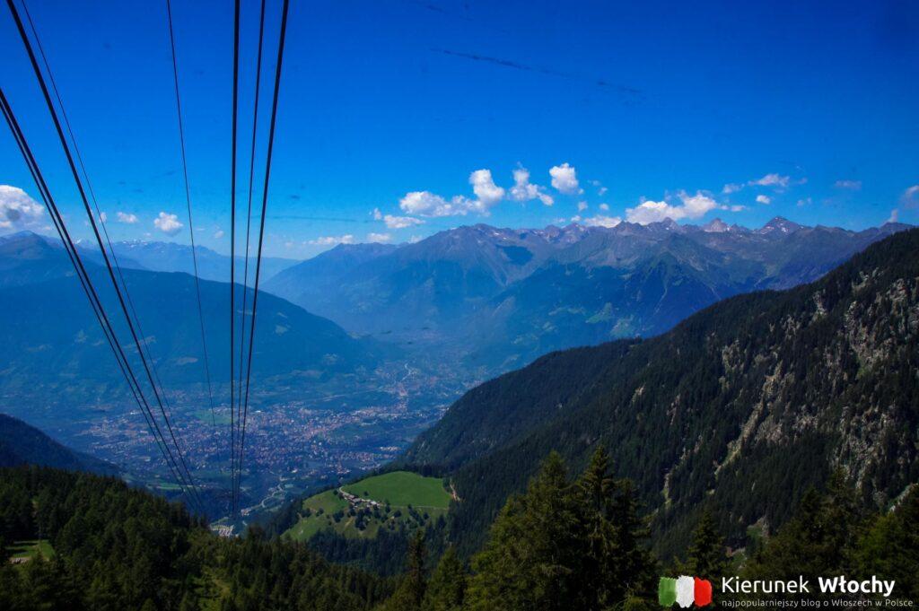 widok z kolejki Meran 2000, Południowy Tyrol, Włochy (fot. Ł. Ropczyński, kierunekwlochy.pl)