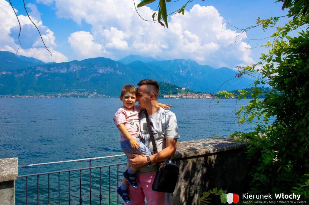 z moim starszym synem - Natanem nad jeziorem Como we Włoszech