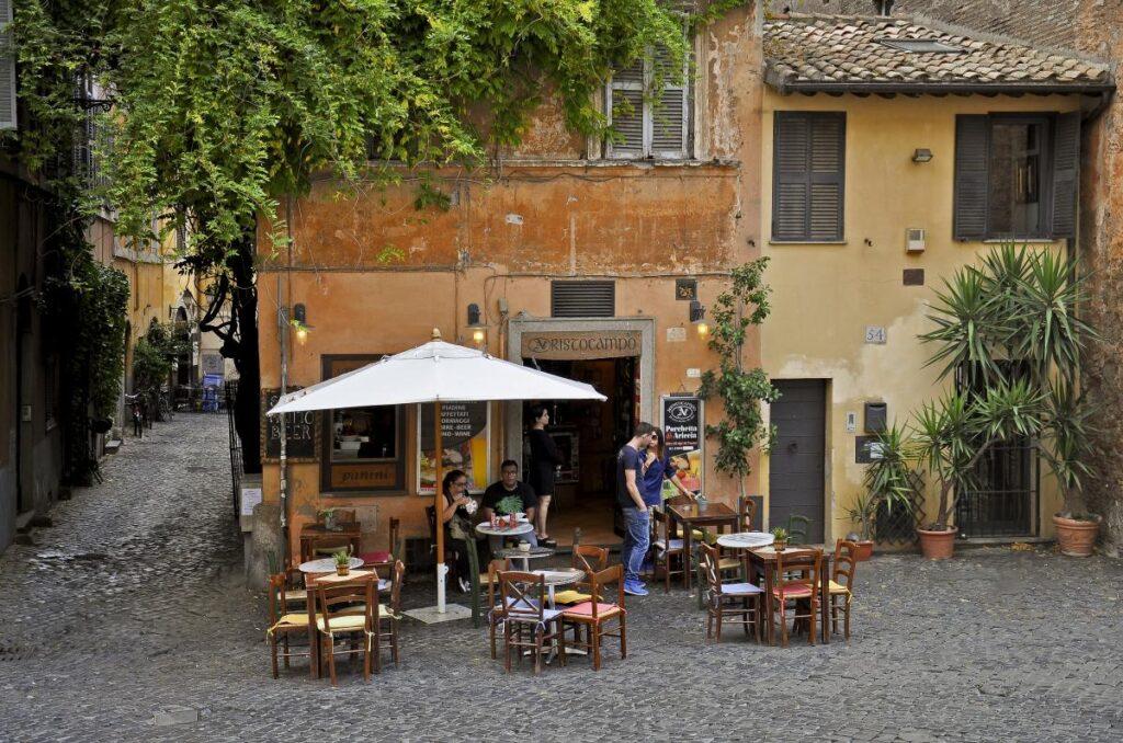 dzielnica Zatybrze, Trastevere, Rzym, Włochy (fot. Frank Schmidtke)