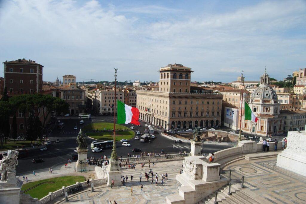 Plac Wenecki / Piazza Venezia, Rzym, Włochy (fot. Ana Rey)