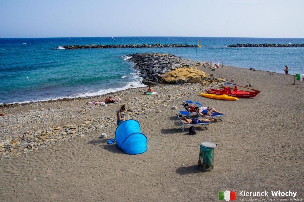 plaża w Sanremo, Liguria, Włochy (fot. Łukasz Ropczyński, kierunekwlochy.pl)
