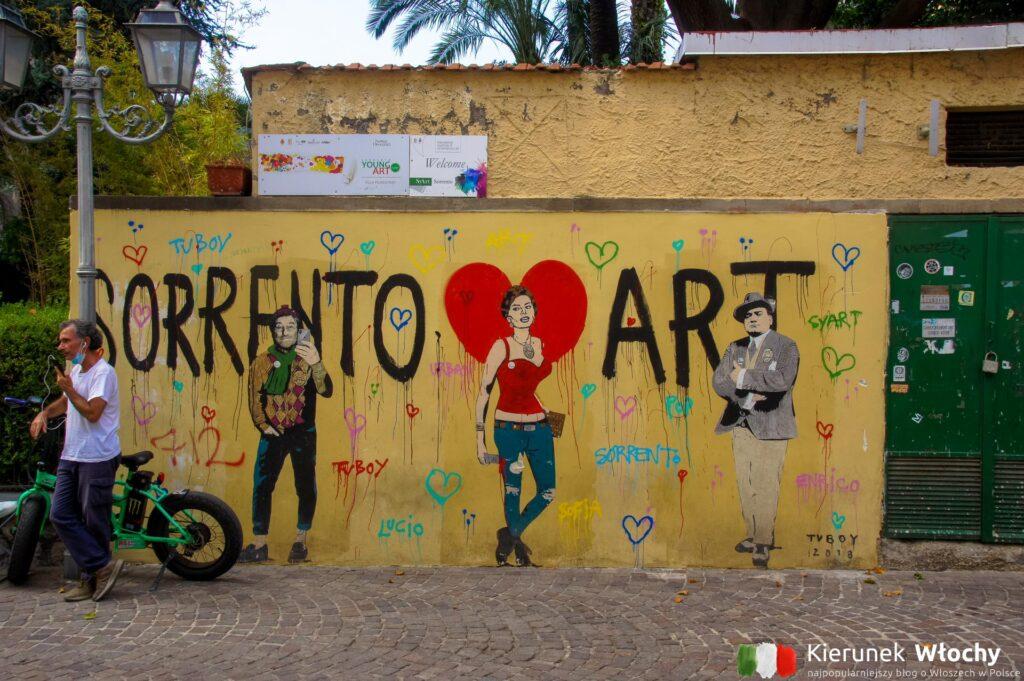 miasto street artu, Sorrento, Włochy (fot. Ł. Ropczyński, kierunekwlochy.pl)