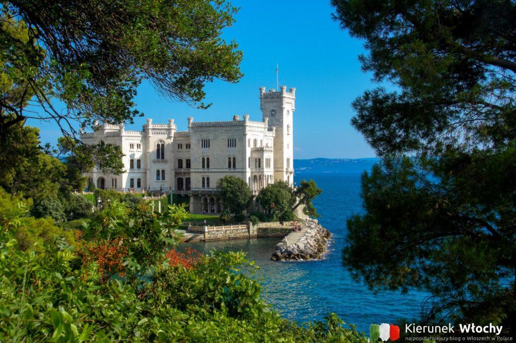 Zamek Miramare w Trieście, Włochy (fot. Ł. Ropczyński, kierunekwlochy.pl)