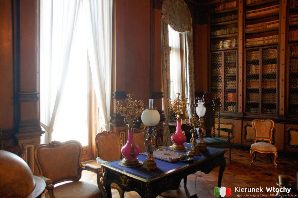 wnętrze zamku Miramare (fot. Ł. Ropczyński, kierunekwlochy.pl)