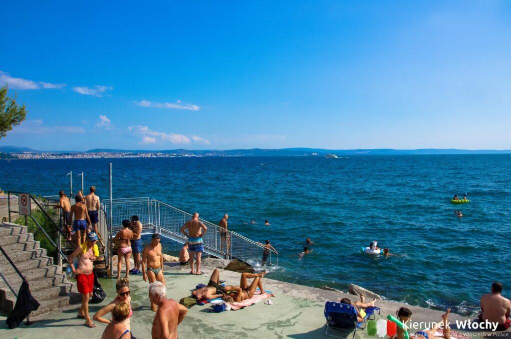 Plaża Barcola, Triest, Włochy (fot. Ł. Ropczyński, kierunekwlochy.pl)
