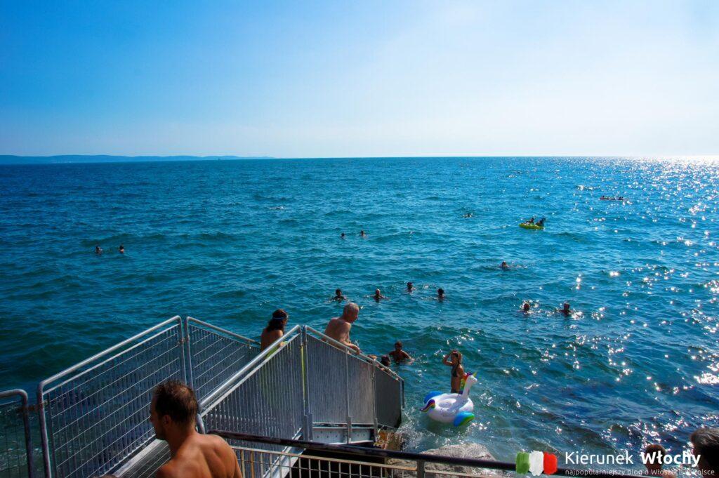 Plaża Barcola, Triest, Włochy (fot. Łukasz Ropczyński, kierunekwlochy.pl)