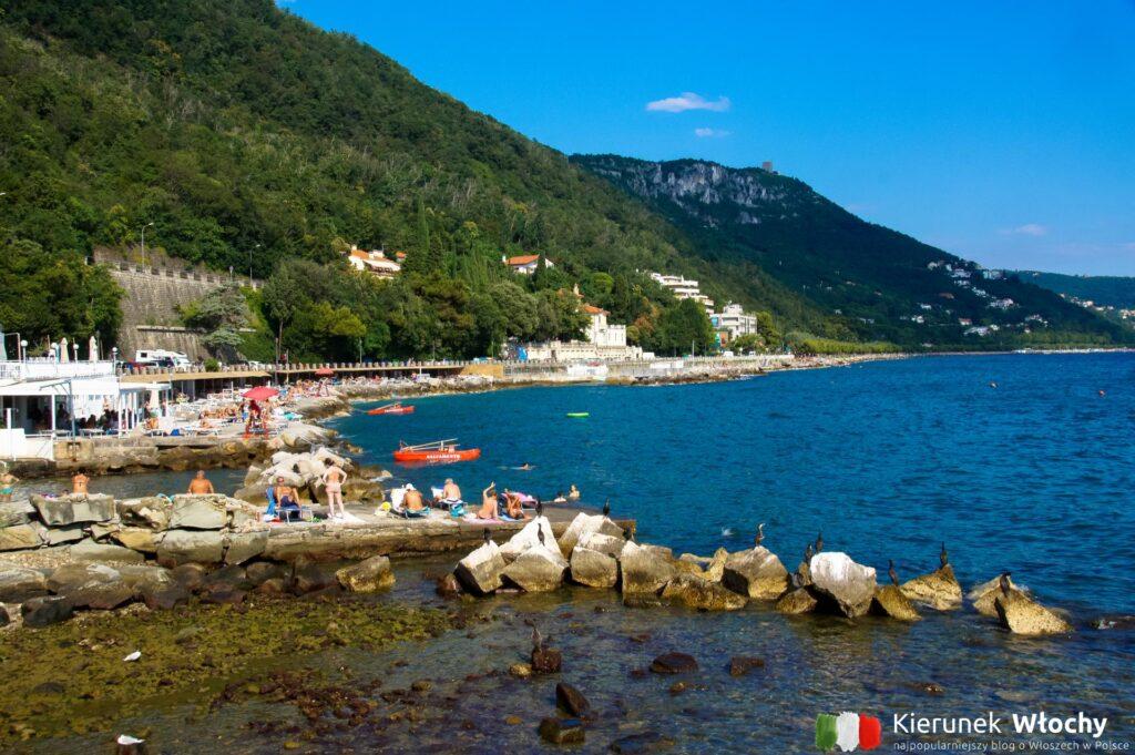 płatna plaża Bagno Sticco, Triest, Włochy (fot. Łukasz Ropczyński, kierunekwlochy.pl)